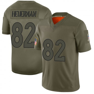 Men's Nike Denver Broncos Jeff Heuerman 2019 Salute to Service Jersey - Camo Limited