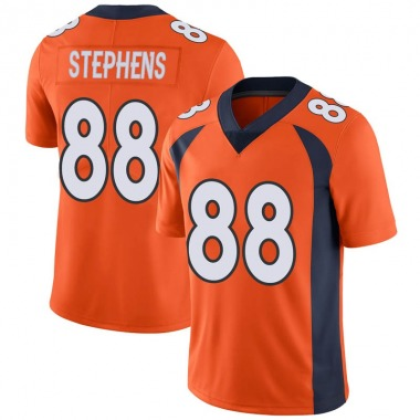 Men's Nike Denver Broncos Moral Stephens Team Color Vapor Untouchable Jersey - Orange Limited