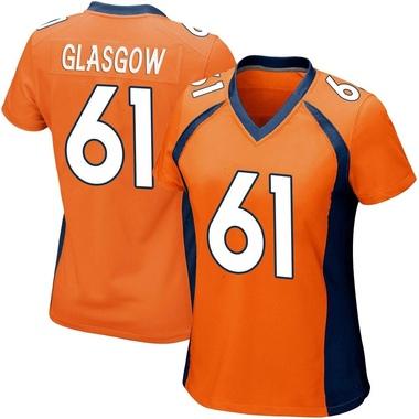 Women's Nike Denver Broncos Graham Glasgow Team Color Jersey - Orange Game