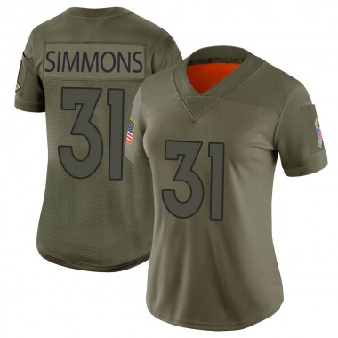 Women's Nike Denver Broncos Justin Simmons 2019 Salute to Service Jersey - Camo Limited