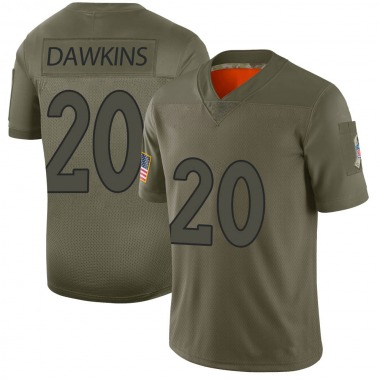 Youth Nike Denver Broncos Brian Dawkins 2019 Salute to Service Jersey - Camo Limited